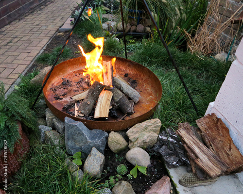 Photo BBY Grillschale Grillen feuerschale