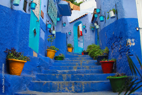 Deurstickers Amazing and colorful Chefchaouen the blue city in the Rif Mountains of northern Morocco