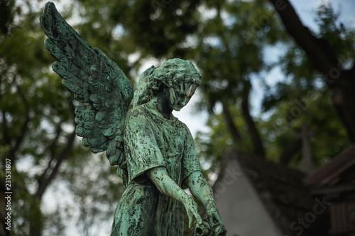 Fotografía  estatua del cementerio parisino