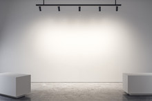 Modern Gallery With Empty Poster