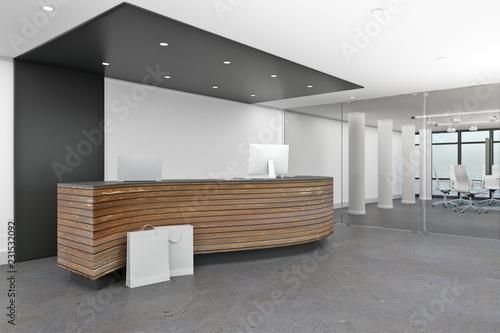 Leinwand Poster Modern lobby interior