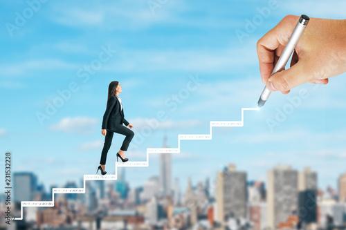 Fototapeta Career development and success concept obraz
