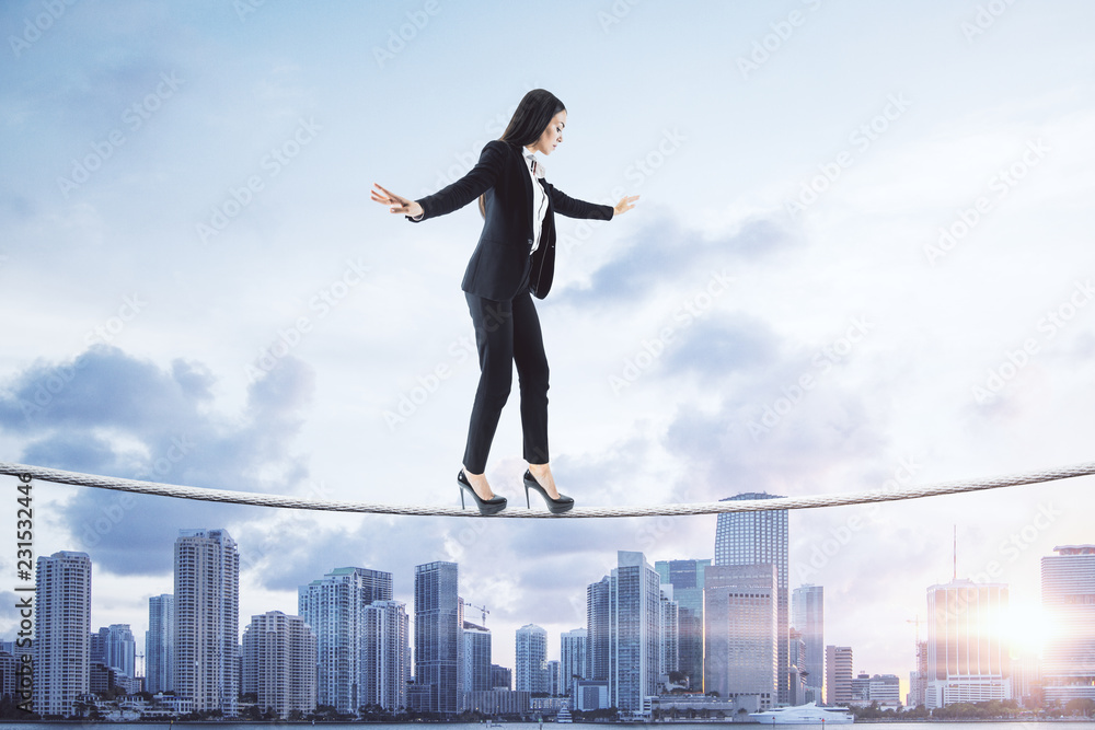 Fototapety, obrazy: Equilibrium and leadership concept