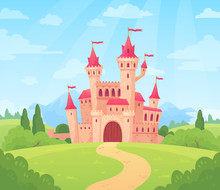 Fairytale Landscape With Castl...