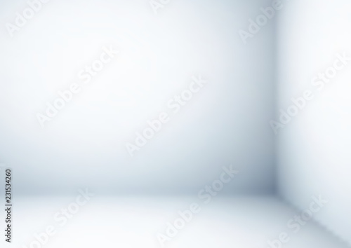 Fototapety, obrazy: Empty gray corner room, Vector