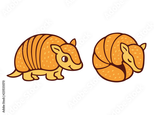 Photo Cute cartoon armadillo