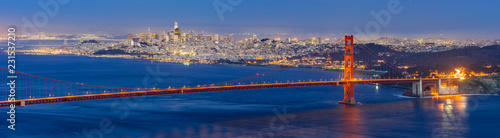 Tuinposter Amerikaanse Plekken Golden Gate bridge Sunset