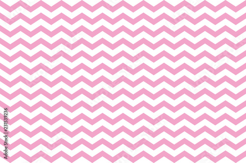 background of pink and white zig zag stripes Canvas Print