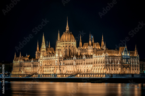 hungarian parliament in budapest Canvas Print