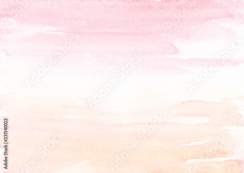 Valokuva  Blush pink Beige watercolor background