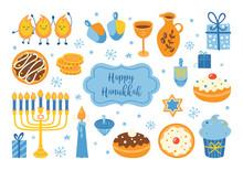 Jewish Holiday Hanukkah Elemen...
