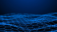 Blockchain Technology Background. Abstract Technology Background. Network Connection. Big Data Visualization. 4k Rendering.