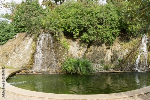 Photographie  Waterfall in the park. Brno. Czech Republic