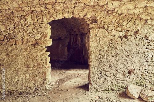 Foto op Aluminium Historisch geb. Stone caverns of a cave