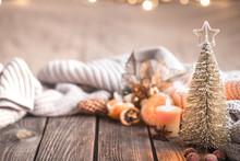 Festive Christmas Cozy Atmosphere With Home Decor