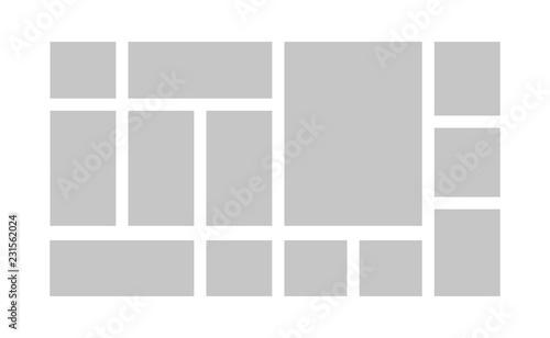 Fotografia, Obraz Collage template frames. Vector