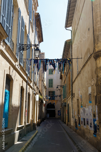 narrow street in arles france Canvas Print