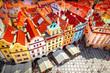Leinwanddruck Bild - Old town square, Prague
