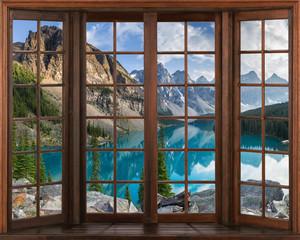 Panel Szklany Do sypialni 3d window view.