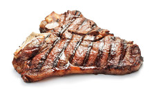 Grilled Beef Meat Isolated On White Background