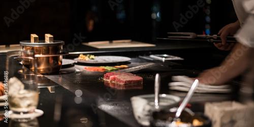 Keuken foto achterwand Hoogte schaal 鉄板焼き・ステーキ