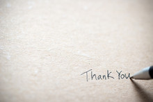 Hand Writing Thank You On Piec...