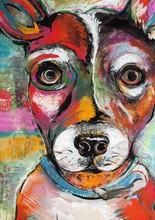 Original Dog Painting Illustra...