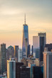 Lower Manhattan and Financial District skyline view