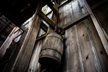 Milking Barrel In An Abandoned Barn