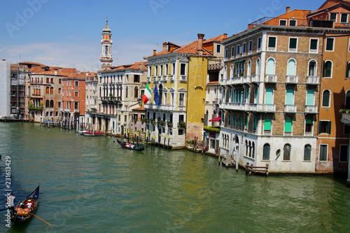 Fotografie, Obraz  Gondolas in the Grand Canal