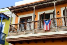 Old San Juan Balcony In Puerto...