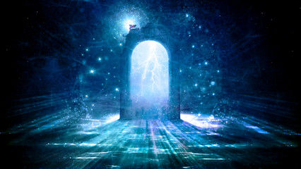 Colorful 3d Rendering Electrifying Gate That Leads to Another Dimension