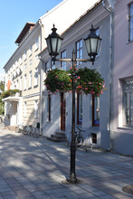 Old-style Street Lantern With ...