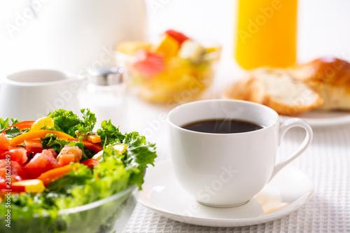 朝食〜ホットコーヒー