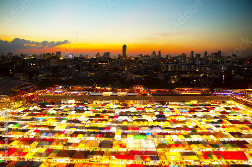 View from Ratchada Market in Bangkok Thailand