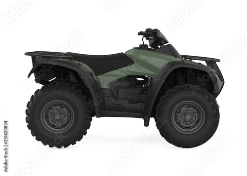Fotografie, Obraz  All-Terrain Vehicle Isolated