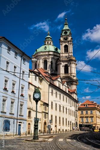 In de dag Centraal Europa Prag, Kleinseite