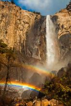 Double Rainbow Over Bridalveil Falls
