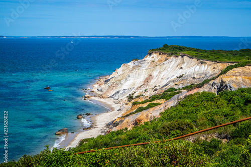 Fotografia, Obraz  The famous Gay Head Cliffs in Cape Cod Martha's Vineyard, Massachusetts