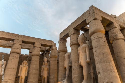 Spoed Foto op Canvas Bedehuis The temple in Karnak