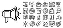 Brand Icon Set. Outline Set Of...