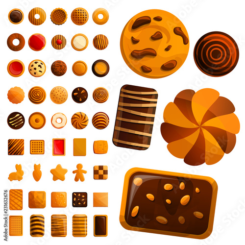 Foto Biscuit icon set