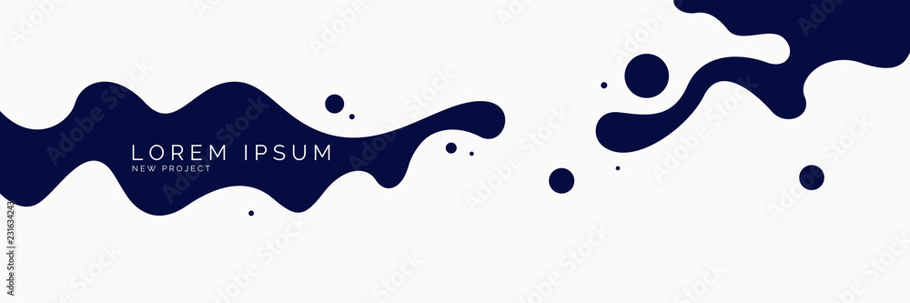 Fototapety, obrazy: Poster with dynamic waves. Vector illustration in minimal style