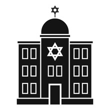 Jewish Synagogue Icon. Simple Illustration Of Jewish Synagogue Vector Icon For Web Design Isolated On White Background