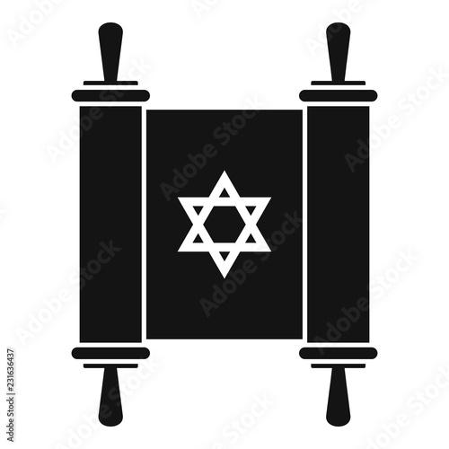 Canvas Print Torah papyrus icon