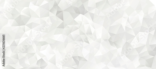 Fotografie, Obraz  black and white geometric pattern, triangle polygon design, vector background