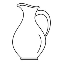 Water Jug Icon. Outline Water Jug Vector Icon For Web Design Isolated On White Background