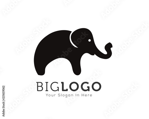56e120ff21f3 Simple cartoon stand elephant logo