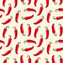 Spicy Hot Pepper Seamless Patt...