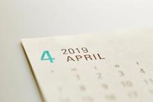 2019 April Calendar Background
